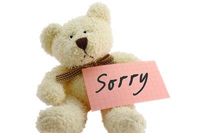 謝罪・お詫び